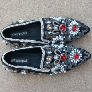 c8b26209265 Jeffrey Campbell Shoes - JEFFREY CAMPBELL Horatio Venetian Embellished Flat